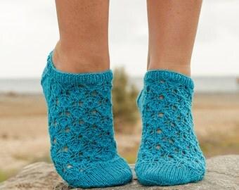 Hand Knitted Ankle Socks, Short Socks