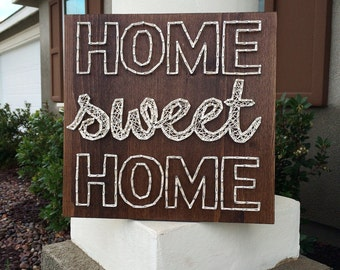 """12"""" Home Sweet Home String Art Sign"""