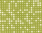20% Off Reel Time Fabric by Zen Chic for Moda! Yardage, Geometric Dots in Chartreuse Green and Off White