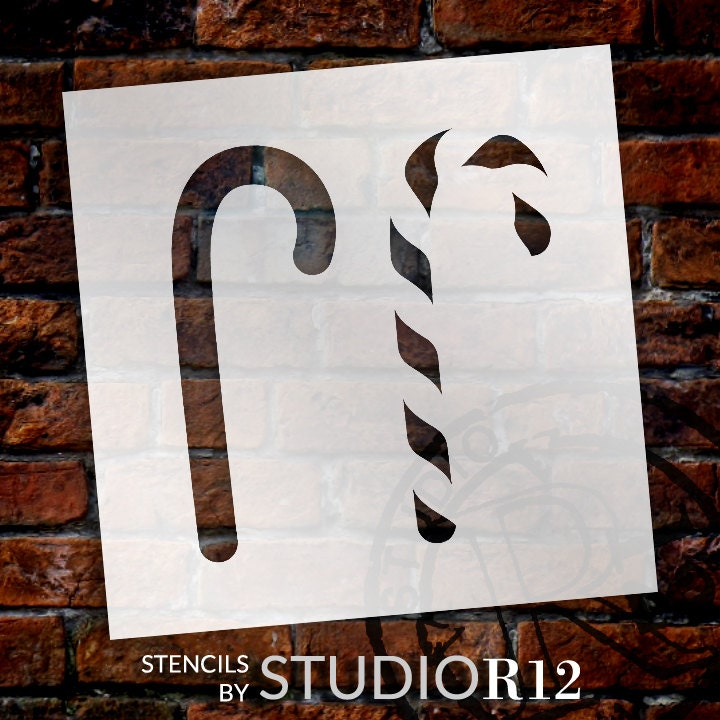 Christmas Candy Cane  - Layered Stencil - Select Size - STCL1382 - by StudioR12
