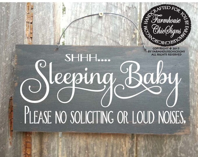 baby sleeping sign, baby shower gift, baby signs, do not ring doorbell, do not knock, 55