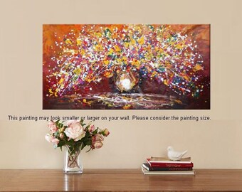 Flower Painting, Abstract Oil Painting, Canvas Art, Oil Painting, Large Art, Abstract Art, Canvas Oil Painting, Original Painting, Wall Art