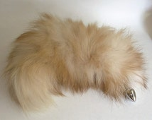 Tail Butt Plug, PURE FLUFF, Fox Tail Butt Plug, Detachable or Permanently Attached, 3 Plug Sizes, Fetish Wear, Kitty Tail, Cosplay, Neko