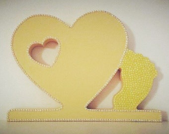 Baby, Newborn, New Parents, Gift, Baby Shower, Foot, Plaque, MDF, Freestanding, Gift To Mum, Gift To Dad, Family, Home, Decor