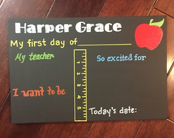First Day of School Chalkboard, First Day of School Sign, Reusable Chalkboard School Sign, First Day of Kindergarten