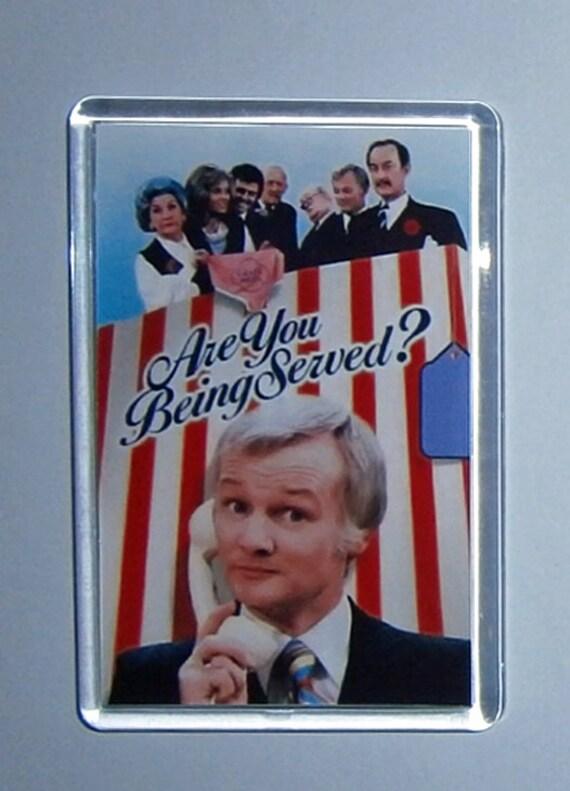 Classic TV Are You Being Served John Inman Mollie Sugden Frank Thornton Wendy Richard Trevor Bannister fridge magnets New