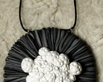 Abstract multi strand flower pendant