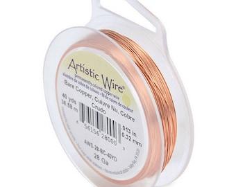 Artistic Wire 28ga 0.32mm Bare Copper Wire 40yd