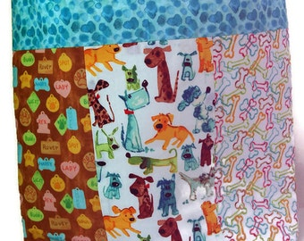 Fabric Library Tote, Shopping Bag, Market Tote, Pets, Dogs,