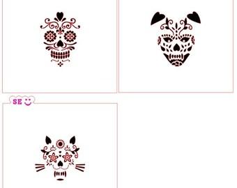 Sugar Skull Stencils