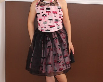 Birthday Dress - Cake Dress - Pink and Black Dress- Boutique Dress - Fancy Dress - Girls Dress - Haven Dress - Summer Dress