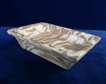 Vintage Mount St. Helen's Ash Ware soap dish