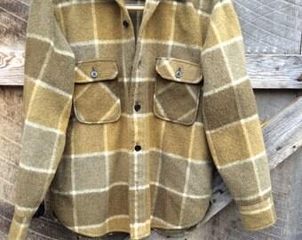 Vintage Fox Knapp plaid shirt jacket size M