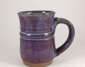 Coffee Cup, Handmade Coffee Cup, Ceramic cup, Pottery mug, Stoneware purple mug, 8 ounce cup, Handmade cup