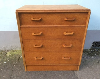 SOLD: 1950's Brandon by G Plan vintage Chest of Drawers. Retro/Mid-Century
