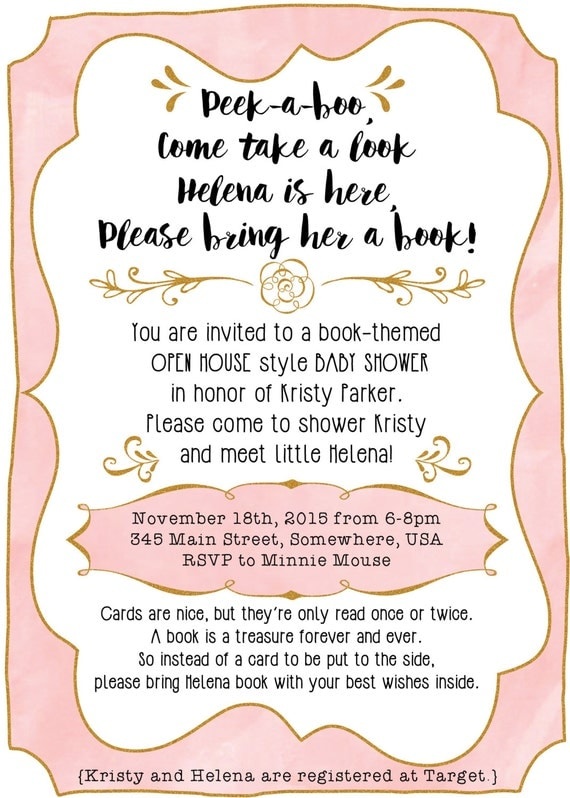 items similar to after baby is born baby shower invitation with a book