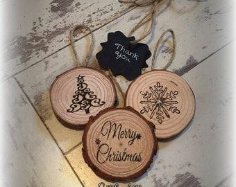 Rustic christmas tree decorations USA listing