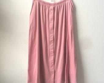 Vintage Dusty Rose Midi Skirt