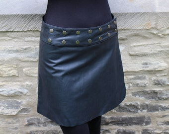 Handmade Leather Skirt, Hippie, Skirt