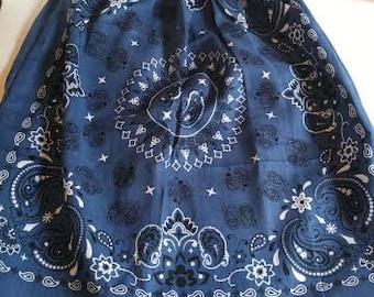 Blue traditional bandana dress, bandana dress, Girl's bandana dress, Summer girl's dress, Lightweight dress, Summer dress, Girl's clothing