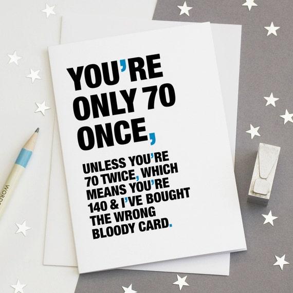 70th Birthday Card Funny 70th Card Sarcastic 70th Card – Funny 70th Birthday Cards