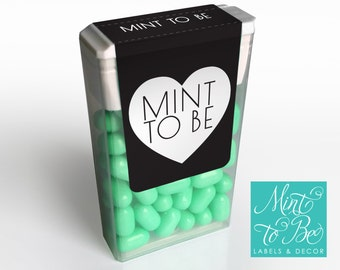 Mint Wedding or Engagement Party Favor, Professionally printed Mint to BeLabels for  Tic Tacs Wedding or Engagement Favors, Easy to apply