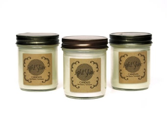 PICK 3 | The Signature Collection | 8 ounce Soy Candle, Jar Candle