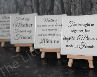 Mini Easel/Ceramic Gift - Fate brought us together...
