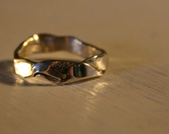 Folded Sterling Silver Ring