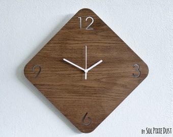 Wooden Rhombus - Wooden Wall Clock