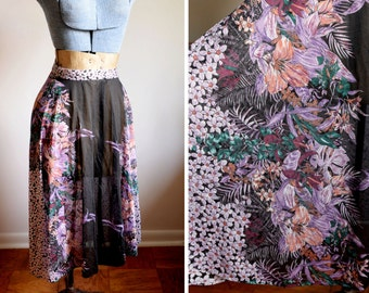 Small - Beautiful Sheer 70's Skirt