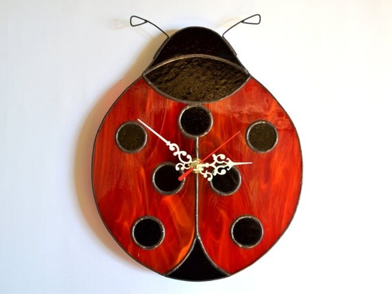 Ladybug Wall Clock Unique Home Decor For Nursery Or