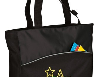 Personalized Tote Bag Embroidered Tote Bag Custom Tote Bag - Sports - Stars - B1510