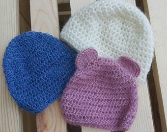 Photo prop hats, newborn baby hat, baby hat photo prop