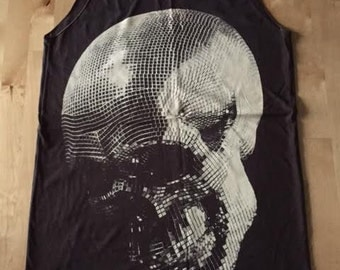 Disco Skull Gothic  Rock N Roll Punk Rock Vest Tank Top