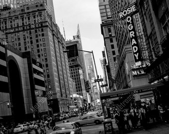 Black and White, New York City Photography, Rosie O'Grady's, Fine Art Photography, NYC Pictures, Uptown