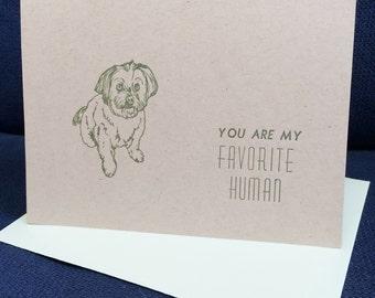 Letterpress Favorite Human Card