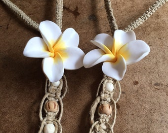 Hemp Beaded Flower Barefoot Sandals