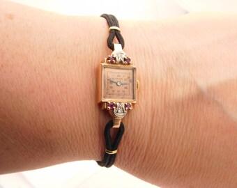 Ladies Vintage Monarch Watch 14K Rose Gold