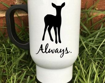 """Harry Potter """"Always"""" Deer Travel Mug"""