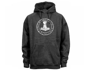 Thor Hammer dark heather gray man/women/junior sweatshirt hoodie