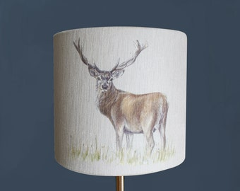 Stag Lampshade / Lamp By Artist Grace Scott