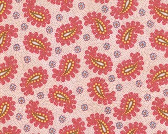 Pink Paisley Fabric, Light Pink Fabric,  Fabric by the Yard, quilt fabric