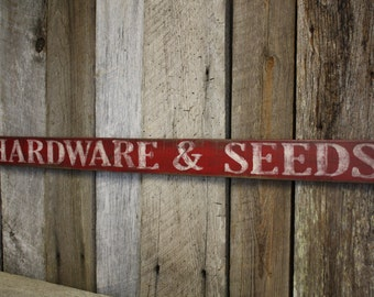 Hardware & Seeds Sign, Fixer Upper Style, Rustic Sign, Pallet Sign, Fixer Upper Decor, Farmhouse sign