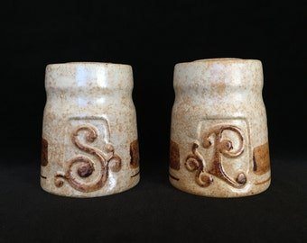 Pottery Craft salt pepper shakers made in USA ceramic collectible shakers vintage 1970's kitchen decor kitchen shakers tableware salt pepper
