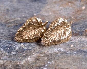 Gilded leaves - earrings A092