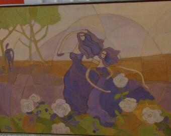 Vintage Impressionist Oil Painting/ Signed