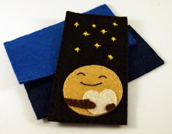 Cute Pluto Planet felt bookmark