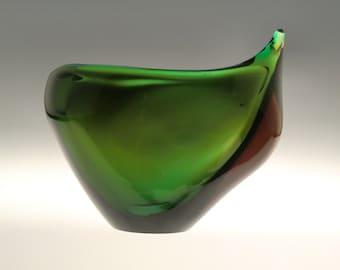 Czech Bohemian Skrdlovice Art Glass Vase Jardiniere  by Maria Stahlikova and Milena Veliskova