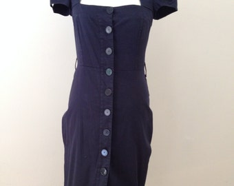 1950's Navy Style Wiggle Dress